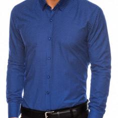 Camasa eleganta barbati K468 - albastru-deschis-alb