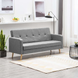 Canapea din material textil gri deschis