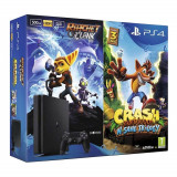 Consola Sony PlayStation 4 (PS4) Slim, 500GB, 8GB RAM + Ratchet & Clank + Crash Bandicoot