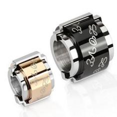 Pandantiv din oțel - cilindri cu inscripția LOVE