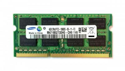 Memorie ram sodimm SAMSUNG 4Gb DDR3 1333Mhz PC3-10600S 1.5V,m471b5273dh0-ch9 foto