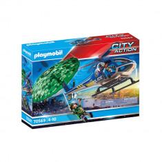 Playmobil City Action - Elicopter de politie si parasutist