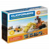 Set de construit Clicformers - Mini set cu 30 de piese - vehicule de santier