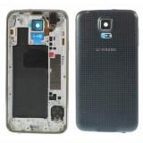 Cumpara ieftin Carcasa Corp Mijloc Samsung SM-G900A Cu Capac Baterie Spate Originala Gri