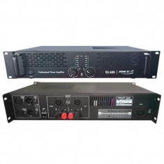 Amplificator profesional, 600 W, clasa amplificare AB, protectie supraincalzire