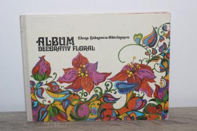 ALBUM DECORATIV FLORAL de ELENA STANESCU-BATRANESCU 1981 foto