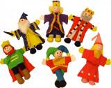 "Set papusi degetar - ,,Frumoasa din padurea adormita"" si ,,Regele Arthur"" PlayLearn Toys, Bigjigs"