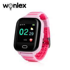 Ceas Smartwatch Pentru Copii Wonlex KT02 cu Functie Telefon, GPS, 3G, Camera, IP67, Android - Roz