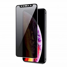 Folie Sticla Apple iPhone XS Max Iberry Privacy Glass Negru