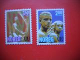 HOPCT TIMBRE MNH 70 ANUL TINERETULUI 1985 2 VAL  -NORVEGIA