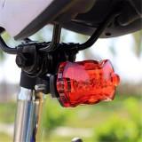 Stop spate bicicleta, 5 LED-uri, 7 moduri iluminare, clema fixare