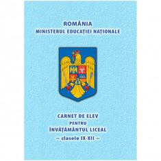 Carnet de elev clasele IX-XII - NEBO