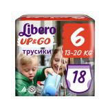 Scutece chilot Libero Up&Go, Unisex, 6, XL, 13-20 kg, 18 buc