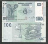 CONGO  100  FRANCI  FRANCS  2007  UNC  [1]  P-98A  ,  necirculata