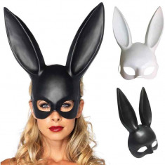 Masca Carnaval Foreplay Adult Neagra Black Plastic Halloween Urechi Iepuras