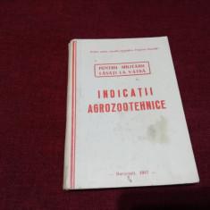 INDICATII AGROZOOTEHNICE PENTRU MILITARII LASATI LA VATRA 1957