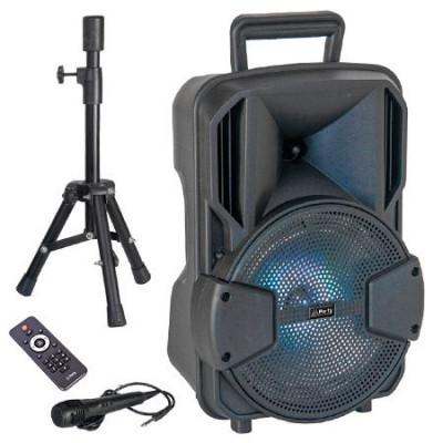 Boxa activa bluetooth LED, acumulator 1800 mAh, USB, microfon inclus foto
