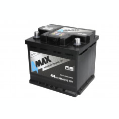 Baterie 4MAX 12V 44Ah 360A (R+ Borna standard) 210x175x190 B13 - flansa montare 10.5 mm (Pornire)