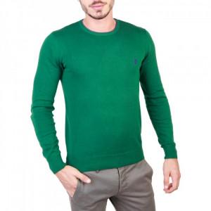 Pulover barbati U.S. Polo Assn model 49810_50357, La baza gatului, culoare Verde, marime XL EU