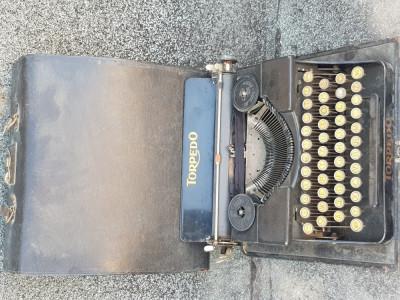 TORPEDO Masina de scris vintage cutie lemn  - decoratiune de exceptie foto