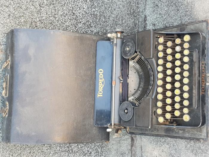 TORPEDO Masina de scris vintage cutie lemn  - decoratiune de exceptie