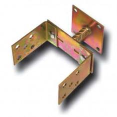 Suport stalp tip U fixare in beton, latime reglabila, cu talpa fixa, Strend Pro MA2303, 110-160 mm, Zn Mania Tools