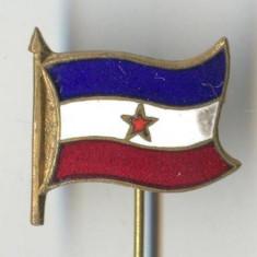 Insigna Heraldica - Steag - YUGOSLAVIA - email la cald - SUPERBA