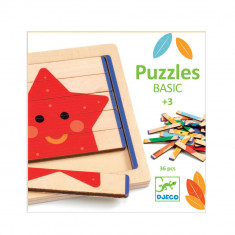 Puzzle lemn basic Djeco 30 piese