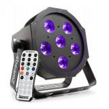 Cumpara ieftin Beamz BFP130 FLATPAR, 6 x 6 W UV diode LED, DMX, telecomandă IR