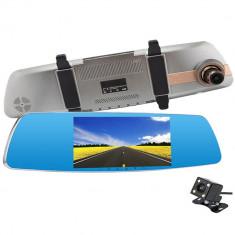 Camera Auto Oglinda iUni Dash 830, Dual Cam, Touchscreen 5 inch, Full HD, Night Vision, G Senzor, Unghi 170 grade