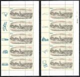 Romania 1997, LP 1435, Ziua marcii, straifuri de 5 cu toate cele 10 vinete, MNH!, Nestampilat