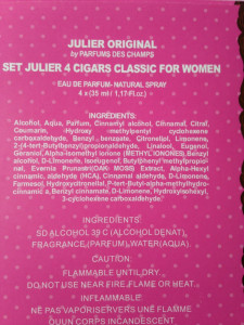 Set cadou parfum Femei JULIER 4 FIOLEx35 ml- France Collection