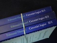CERCETARI LOGICE-EDMUND HUSSERL-3 VOL-VOL2/1-2/2-2/3- foto