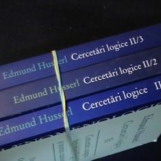 CERCETARI LOGICE-EDMUND HUSSERL-3 VOL-VOL2/1-2/2-2/3-, Humanitas