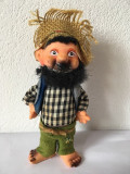 Papusa vintage taran, om cu barba, stanta JAPAN in talpa, 16cm inaltime