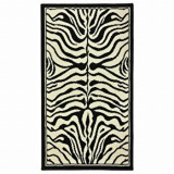 Covor Decorino Animal Print C05-020183, Alb/Negru, 60x110 cm