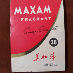 Folii sapun MAXAM Fragrant Soap Sheets