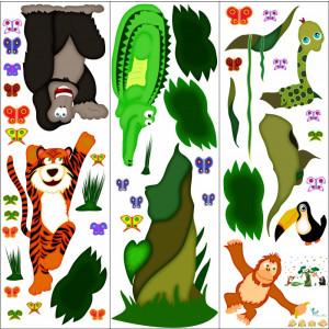 Sticker decorare camere copii In jungla