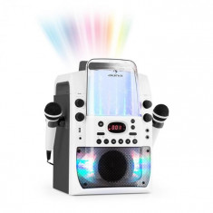 Auna KARA LIQUIDA BT, dispozitiv karaoke, show de lumini, fântănă de apă, bluetooth, culoare albă / gri