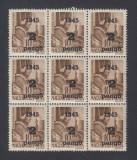 ROMANIA 1945 ARDEALUL DE NORD ORADEA I 2P/10F  BL 9  MNH AUTENTIFICARE BODOR