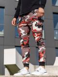 Cumpara ieftin Pantaloni trening bărbați bordo-roșu Bolf 0475