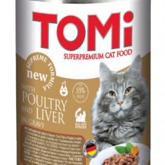 Conserva pentru pisici, Tomi cu Pui cu Ficat, 400 g