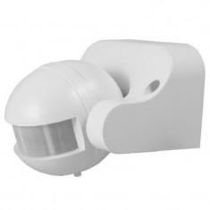 Cumpara ieftin Senzor miscare cu infrarosu, 300 W, 12 m, raza detectie 180 grade, Alb