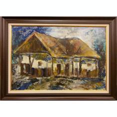 """Tablou, Vergiliu Cojocaru Cover, """" Casa taraneasca """" , u/c"""