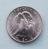 VATICAN  -  5 Lire 1975  -  UNC