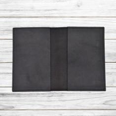 Husa pasaport din piele naturala, Neagra