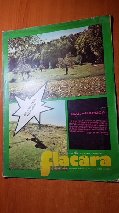 revista flacara 19 octombrie 1974-vizita lui ceausescu in cluj napoca