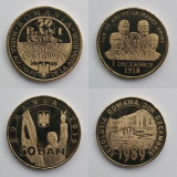 Set monede: 50 bani - Regina Maria, Ferdinand, Marea Unire, Revoluția, din fisic