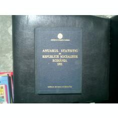 Anuarul statistic al Republicii Socialiste Romania 1981
