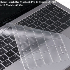 Husa de protectie pt tastatura EU MacBook 12 inch Pro 13 2016 (fara Touch Bar)